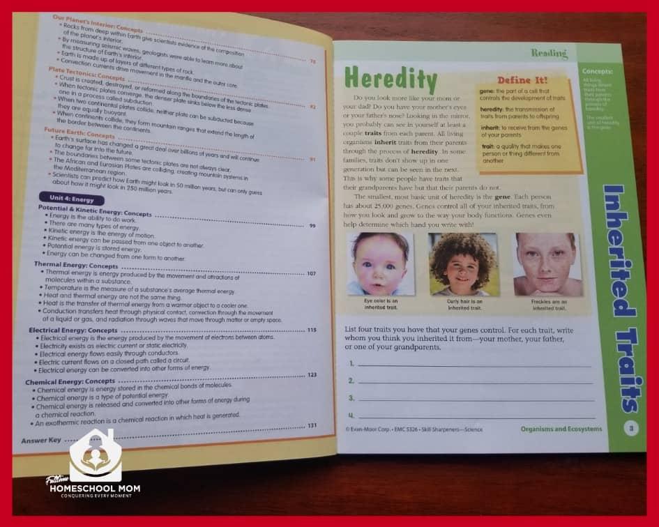 Skill Sharpeners workbook page 1